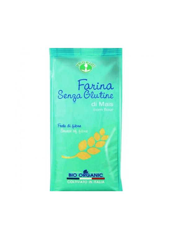 Probios ekološka koruzna moka brez glutena v plastični embalaži, 375g.
