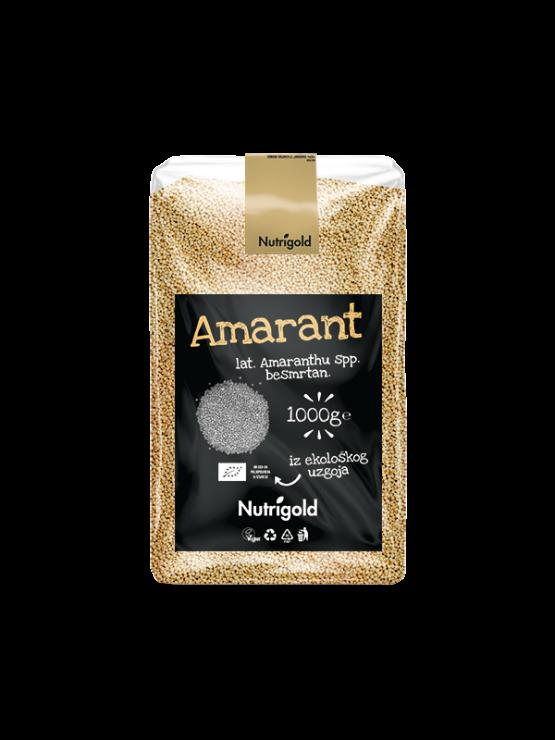 Nutrigold ekološki amarant / ščir v prozorni plastični embalaži, 1000g.