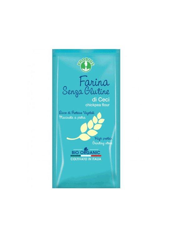 Probios čičerikina moka brez glutena v plastični embalaži, 375g.