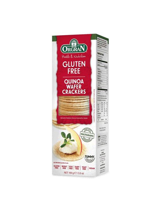 Orgran krekerji s kvinojo v kartonski embalaži, 100g.