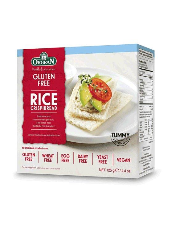 Orgran hrustljavi riževi kruhki v kartonski embalaži, 125g.