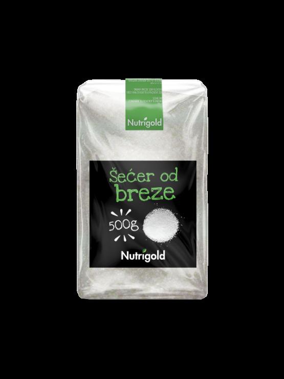 Nutrigold brezov sladkor v prozorni plastični embalaži, 500g.