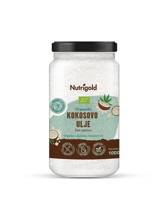 Nutrigold certificirano ekooško kokosovo ollje brez vonja v kozarcu, 1000 ml.