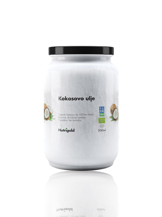 Nutrigold ekološko kokosovo olje brez vonja v 500ml kozarcu