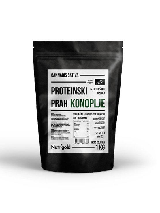 Nutrigold ekološke konopljine beljakovine v plastični embalaži, 1000g.