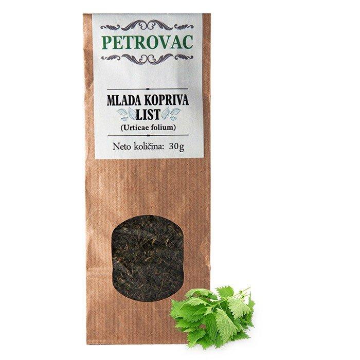 Petrovac Čaj iz mladih koprivovih listov v papirnati embalaži, 30g.