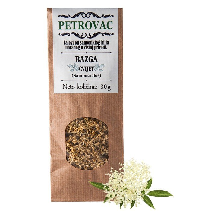 Petrovac čaj iz bezgovih cvetov v papirnati embalaži, 30g.