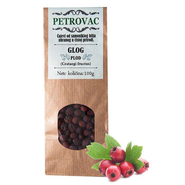 Petrovac glogov čaj v papirnati embalaži, 100g.