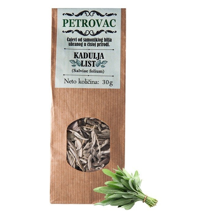 Petrovac čaj iz žajbljevih listov v papirnati embalaži, 30g.