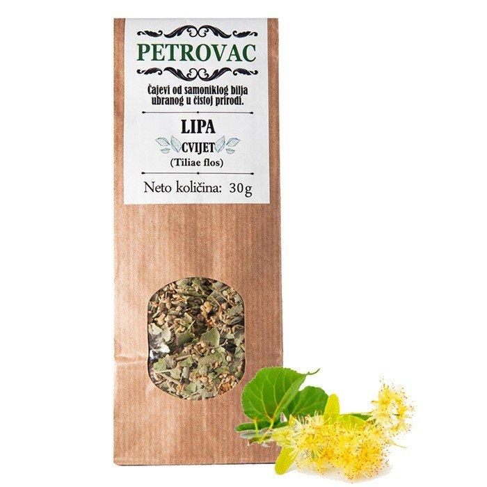 Petrovac čaj iz lipovih cvetov v papirnati embalaži, 30g.