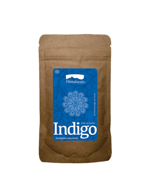 Himalayan Indigo naravna barva za lase v papirnati embalaži, 100g.