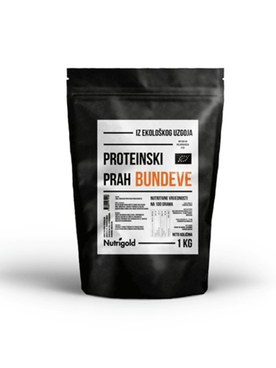 Nutrigold bučne beljakovine v prahu v plastični embalaži, 1000g.