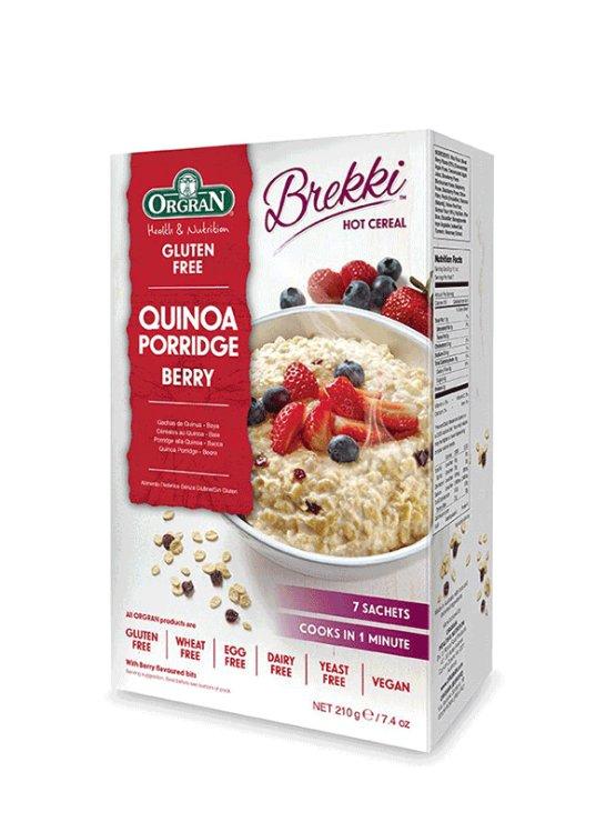 Orgran kvinojina kaša z gozdnimi sadeži v kartonski embalaži, 210g.