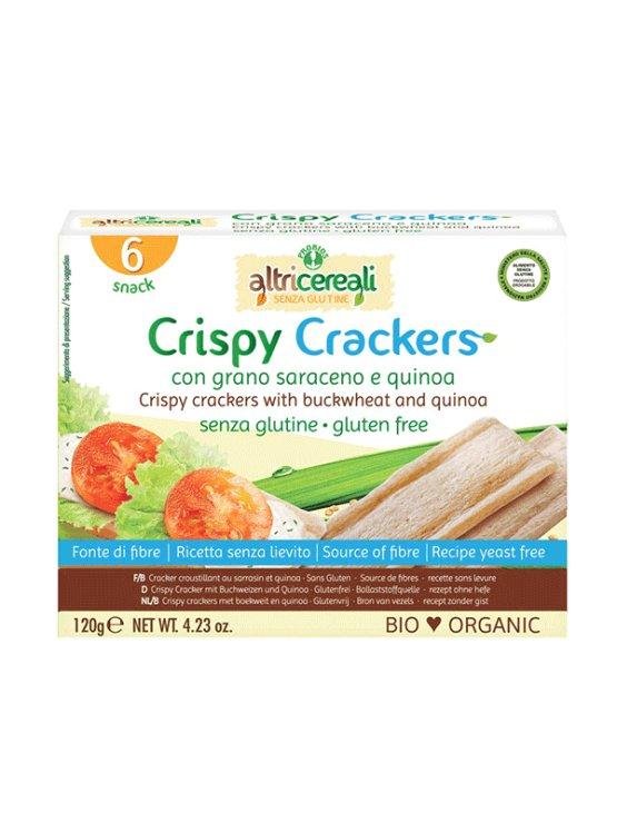 Probios ekološki hrustljevi krekerji z ajdo in kvinojo, 120g.