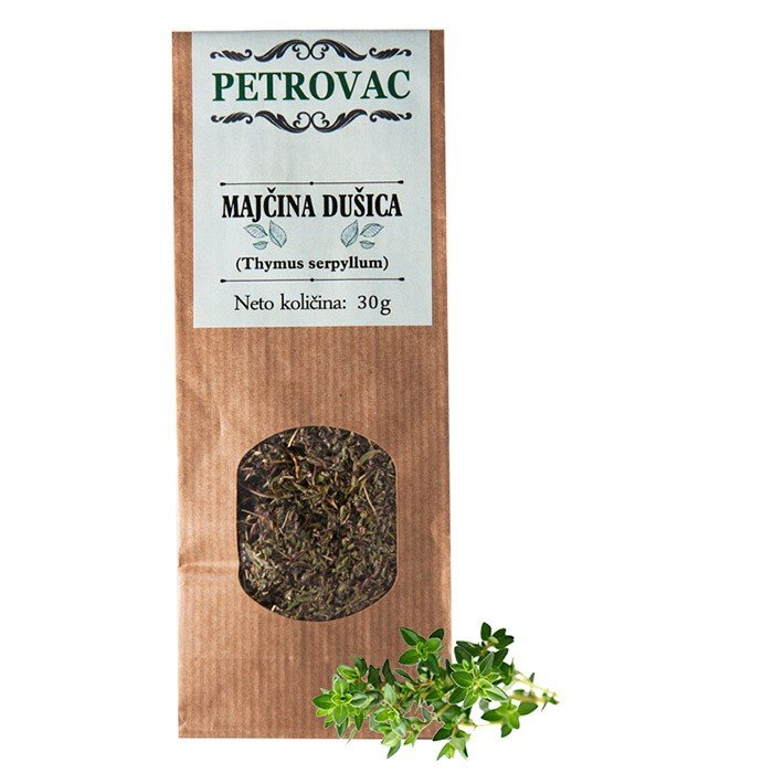 Petrovac čaj Materina dušica v papirnati embalaži, 30g.