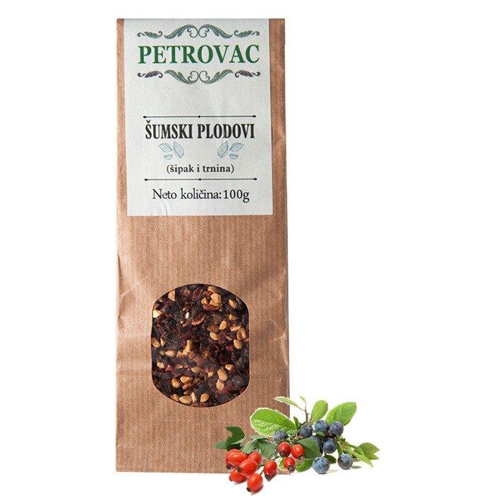 Petrovac čaj iz gozdnih plodov v papirnati embalaži, 100g.