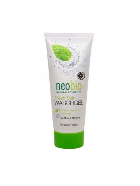 Neobio gel za globinsko čiščenje kože obraza Meta & morska sol, 100ml.