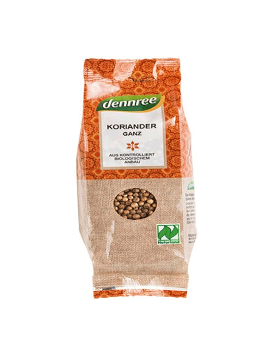 Dennree ekološki celi koriander v plastični embalaži, 45g.