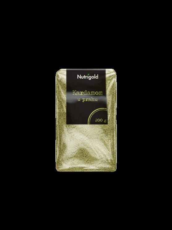 Nutrigold zeleni kardamom v prahu v prozorni plastični embalaži, 200g.
