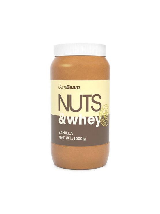 GymBeam arašidovo maslo obogateno z beljakovinami z okuso vanilije v plastični embalaži, 1000g.