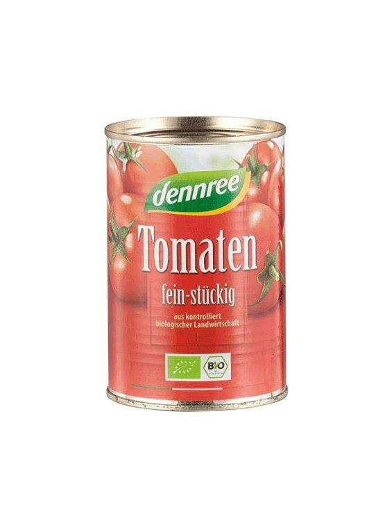 Dennree drobno sesekljan ekološki paradižnik v pločevinki, 400g.