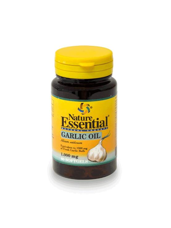 Nature Essential česnovo olje v kapsulah 1000mg, 60 kapsul.