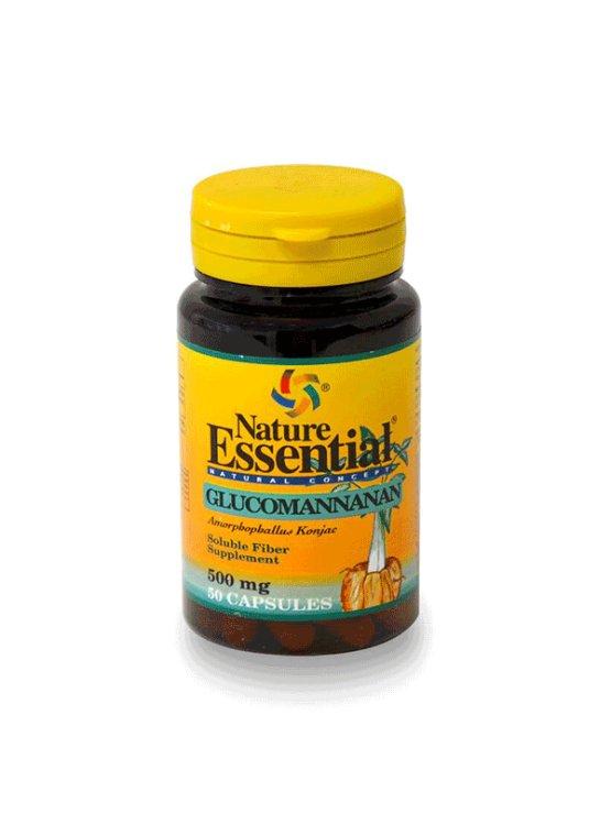 Nature Essential glukomanan v kapsulah, 500mg v plastični embalaži, 50 kapsul.