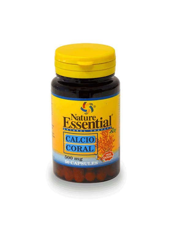 Nature Essential koralni kalcij v kapsulah, 500mg v plastični embalaži, 50 kapsul.