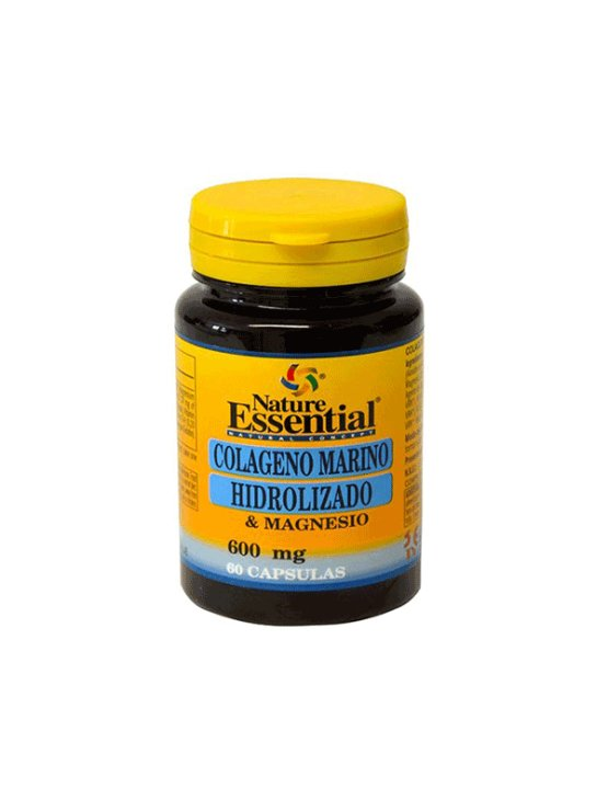 Nature Essential hidrolizirani kolagen z magnezijem v kapsulah, 500mg v plastični embalaži, 60 kapsul.