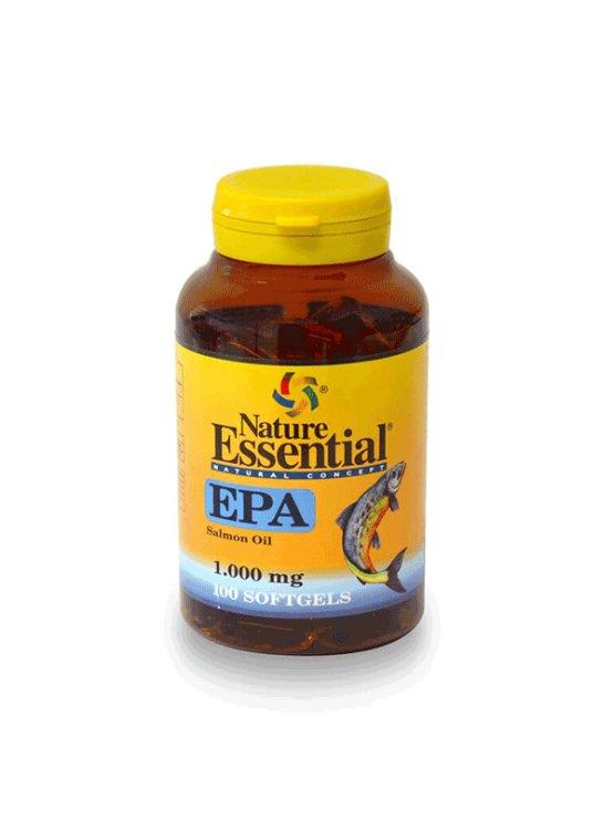 Nature Essential Ribje olje EPA 1000mg v plastični embalaži, 100 tablet.