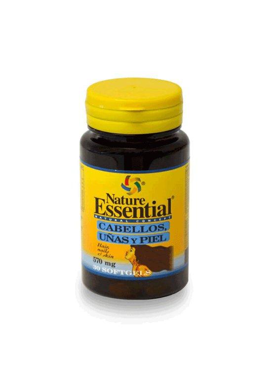Nature Essential kapsule za lase, kožo in nohte, 540mg v plastični embalaži, 30 kapsul.