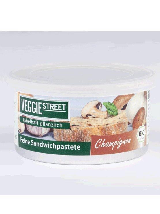 VeggieStreet ekološka gobova pašteta iz šampinjonov v pločevinki, 125g.