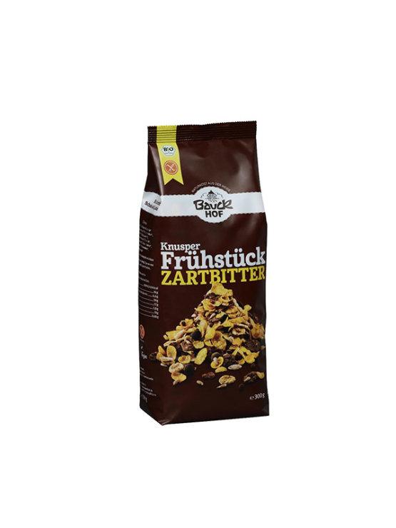 BauckHof ekološki hrustljav zajtrk s temno čokolado v plastični embalaži, 325g.