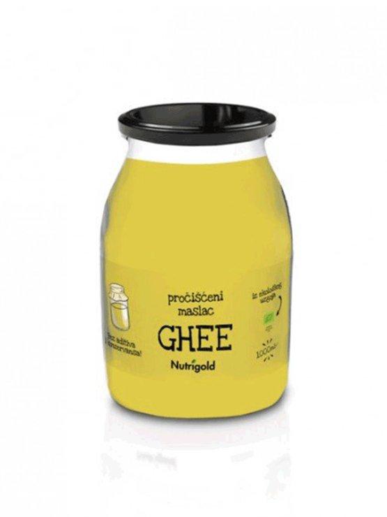 Nutrigold Ghee ekološko prečiščeno maslo v kozarcu, 1000ml.