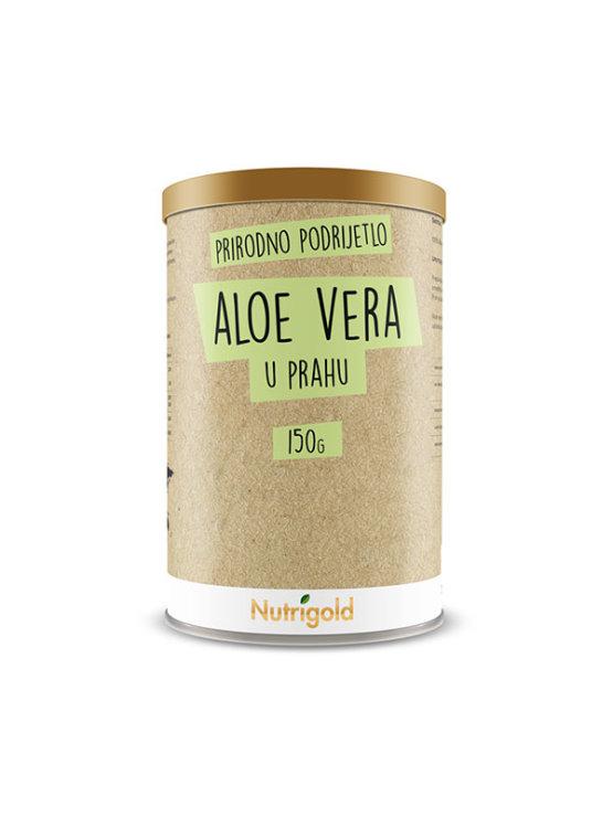 Ntrigold aloe vera v prahu v rjavi kartonski valjkasti embalaži, 150g.