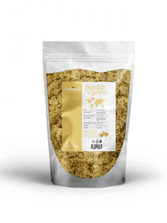 Nutrigold ingver v prahu v plastični embalaži, 1000g.
