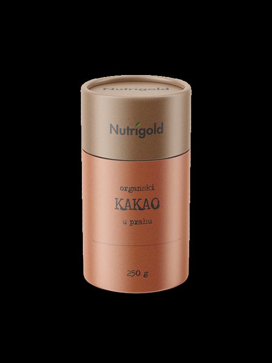 Nutrigold ekološki kakav v prahu v rjavi embalaži, 250g.