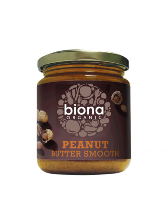 Biona ekološko gladko arašidovo maslo v kozarcu, 500g.