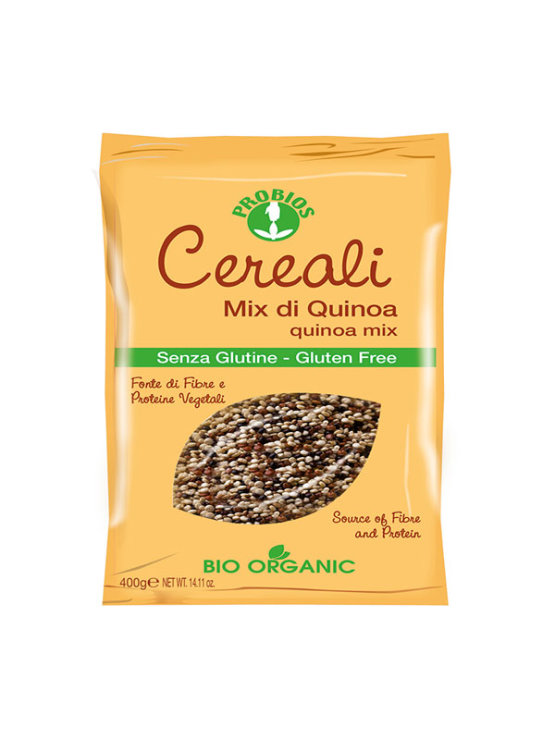 Probios ekološka mešanica kvinoje brez glutena v plastični embalaži, 400g.