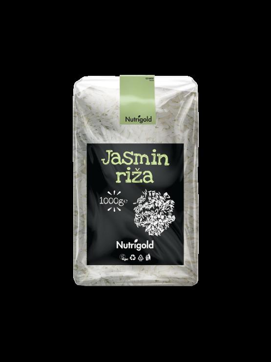 Nutrigold jasminov riž v prozorni plastični embalaži, 1000g.