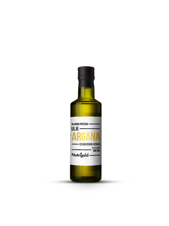 Nutrigold ekološko arganovo olje v steklenički, 100ml.