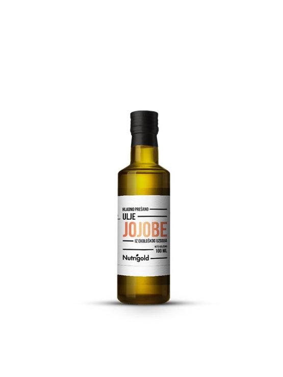 Nutrigold ekološko jojobino olje v steklenički, 100ml.