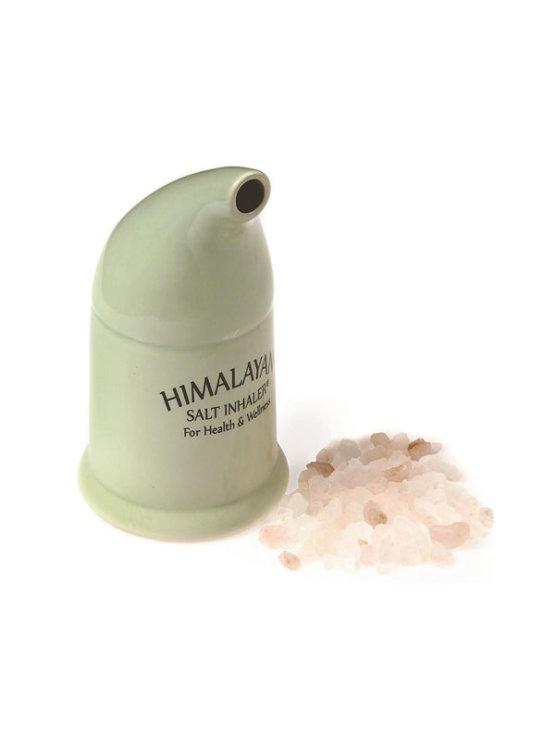 Zeleni porculanski inhalator za himalajsko sol.