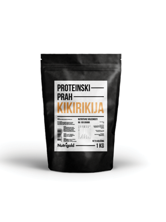 Nutrigold arašidove beljakovine v prahu vv plastični embalaži, 1000g.