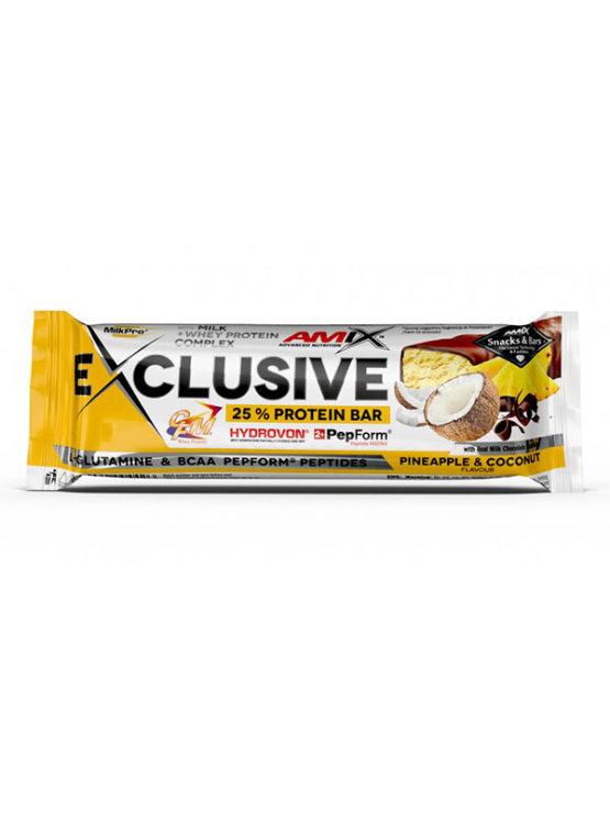 Amix Exclusive beljakovinska ploščica z Ananasom in Kokosom, 40g