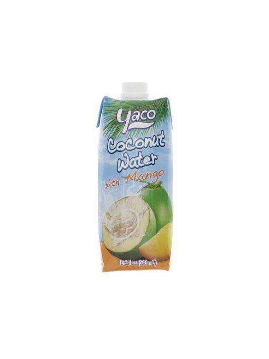 Yaco kokosova voda z Mangom v tetrapaku, 500ml.