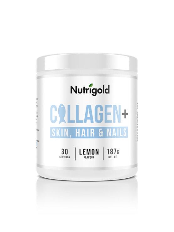 Collagen+ Skin, Hair and Nails - Za kožo, lase in nohte - Limona 187g Nutrigold