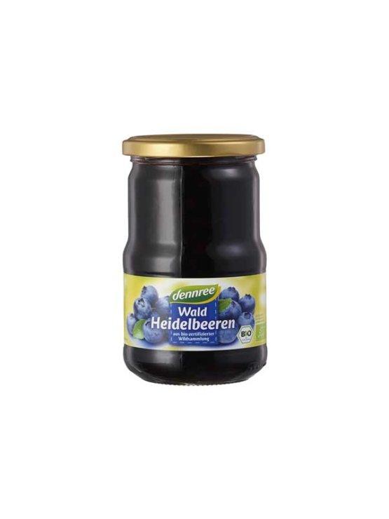 Dennree ekološke borovnice v vodi v kozarcu, 350g.