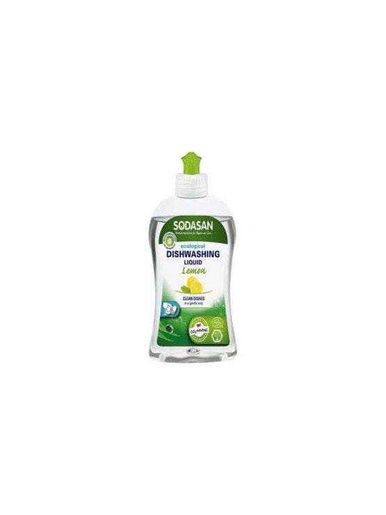 Sodasan detergent za posode z vonjem po limoni v plastenki z dozirko, 0,5l.