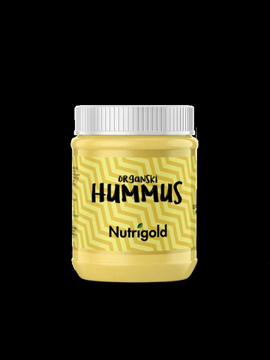 Nutrigold ekološki hummus v plastičnem kozarcu, 260g.